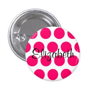 Botón de Elizabeth Pin Redondo De 1 Pulgada