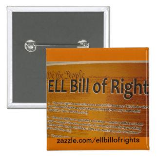 Botón de EllBillofRights Pin Cuadrado
