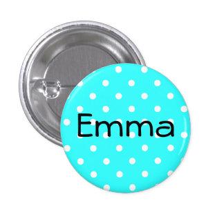 Botón de Emma Pin Redondo De 1 Pulgada