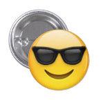 Botón de Emoji de las gafas de sol Pin
