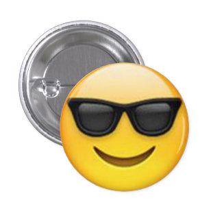 Botón de Emoji de las gafas de sol Pin Redondo De 1 Pulgada