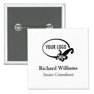 Botón de encargo de la insignia conocida del logot