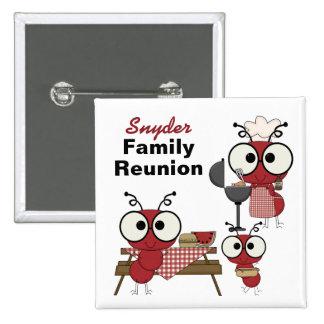 Botón de encargo de la reunión de familia pin