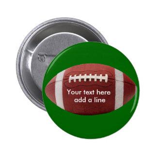 Botón DE ENCARGO del fútbol Pin Redondo De 2 Pulgadas