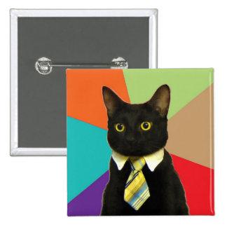 Botón de encargo del gato del negocio pin cuadrado