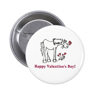 Botón de encargo del mensaje del caballo de la pin redondo de 2 pulgadas