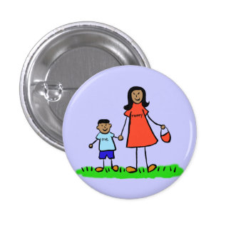Botón de encargo del Pin de los caracteres de la