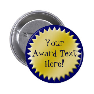 Botón de encargo del premio al éxito pin