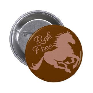 Botón de encargo libre del paseo pin redondo de 2 pulgadas