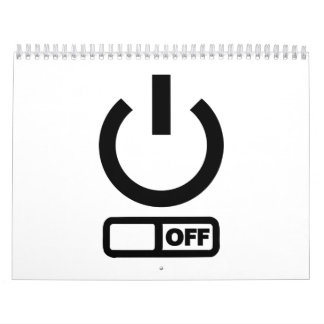 Botón de encendido apagado calendario de pared