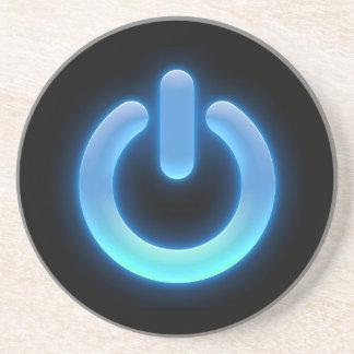 Botón de encendido (azul) posavasos manualidades