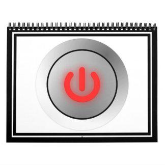 Botón de encendido - blanco - apagado calendario de pared