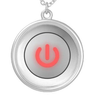 Botón de encendido - blanco - apagado colgante redondo