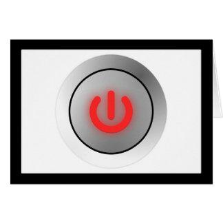Botón de encendido - blanco - apagado felicitación