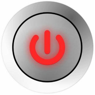 Botón de encendido - blanco - apagado fotoescultura vertical