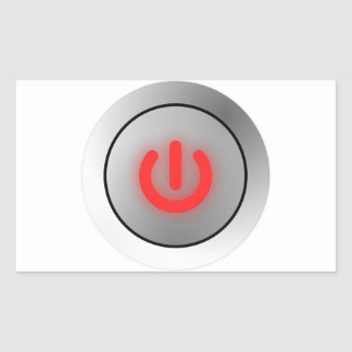 Botón de encendido - blanco - apagado rectangular altavoz