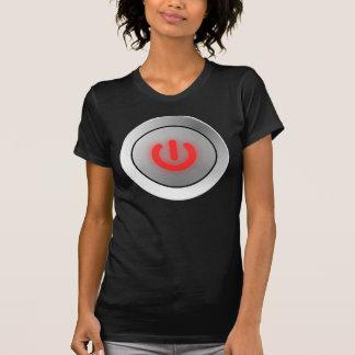 Botón de encendido - blanco - apagado camisetas