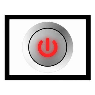 Botón de encendido - blanco - apagado postal