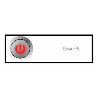 Botón de encendido - blanco - apagado tarjetas de visita