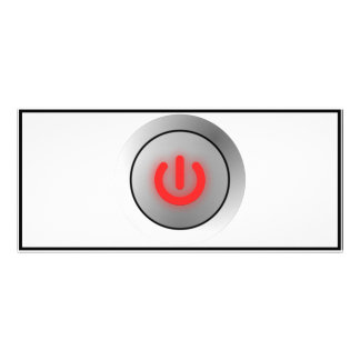 Botón de encendido - blanco - apagado lonas personalizadas