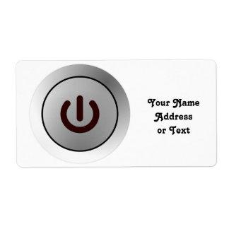 Botón de encendido - blanco - encendido etiqueta de envío