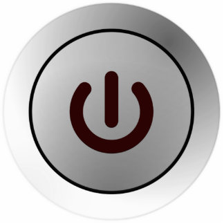Botón de encendido - blanco - encendido fotoescultura vertical