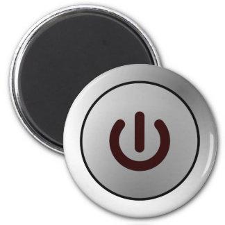 Botón de encendido - blanco - encendido imán redondo 5 cm