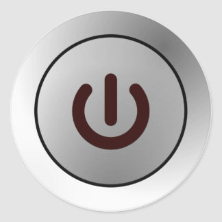 Botón de encendido - blanco - encendido pegatina redonda