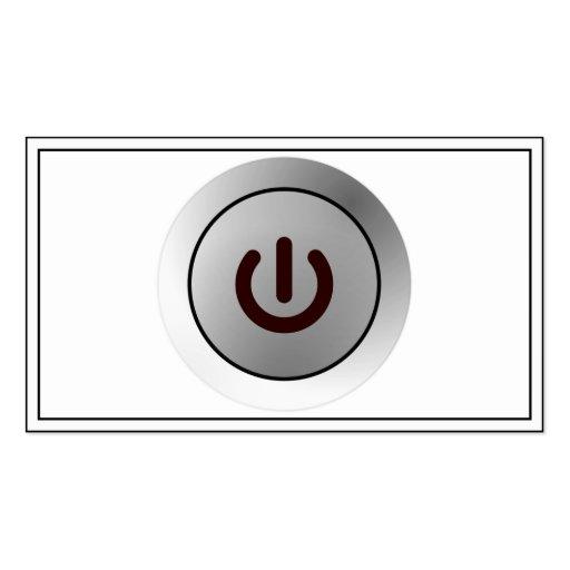 Botón de encendido - blanco - encendido tarjetas de visita