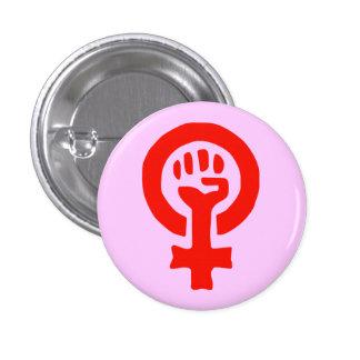 Botón de encendido de la mujer