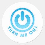Botón de encendido - gíreme etiquetas redondas