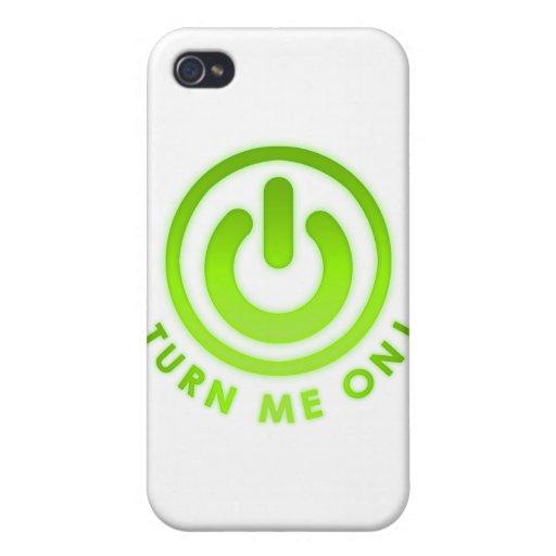 Botón de encendido - gíreme iPhone 4 fundas