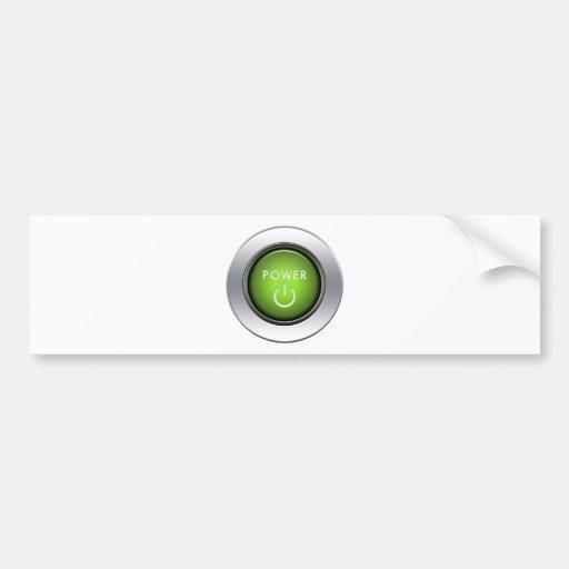 Botón de encendido pegatina para auto