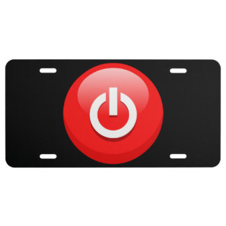 Botón de encendido placa de matrícula