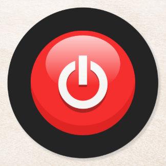 Botón de encendido posavasos desechable redondo