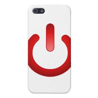 Botón de encendido simple iPhone 5 funda