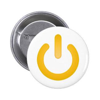 Botón de encendido simple pin redondo de 2 pulgadas