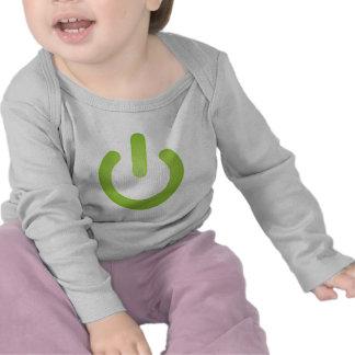 Botón de encendido simple camisetas