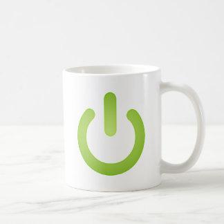 Botón de encendido simple taza básica blanca