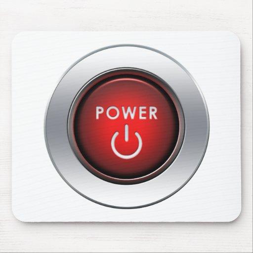 Botón de encendido tapetes de ratón