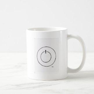 Botón de encendido taza básica blanca