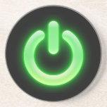 Botón de encendido (verde) posavasos manualidades