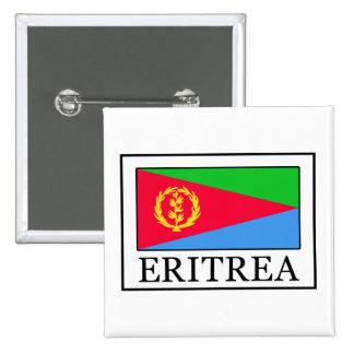 Botón de Eritrea Pin Cuadrado
