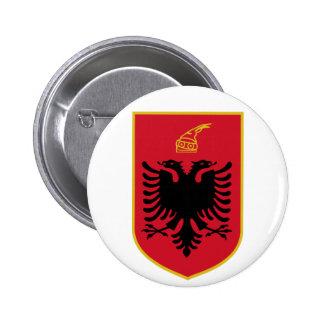 Botón de escudo de armas de Albania Pins