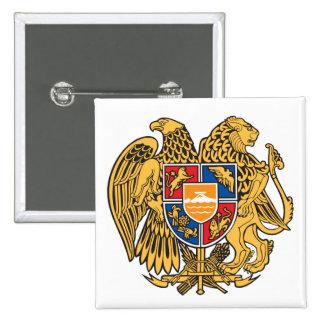 Botón de escudo de armas de Armenia Pin
