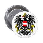 Botón de escudo de armas de Austria Pin Redondo De 2 Pulgadas