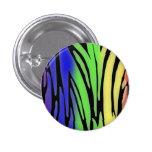 Botón de estampado de animales del arco iris pin