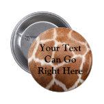 Botón de estampado de girafa pins