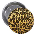 Botón de estampado leopardo pin