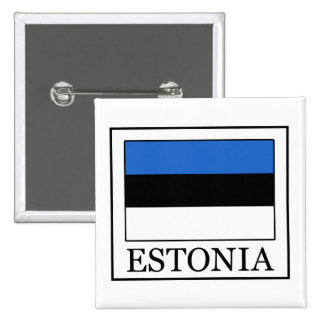 Botón de Estonia Pin Cuadrado